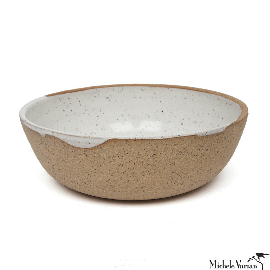 Stoneware Bowls With White Glaze