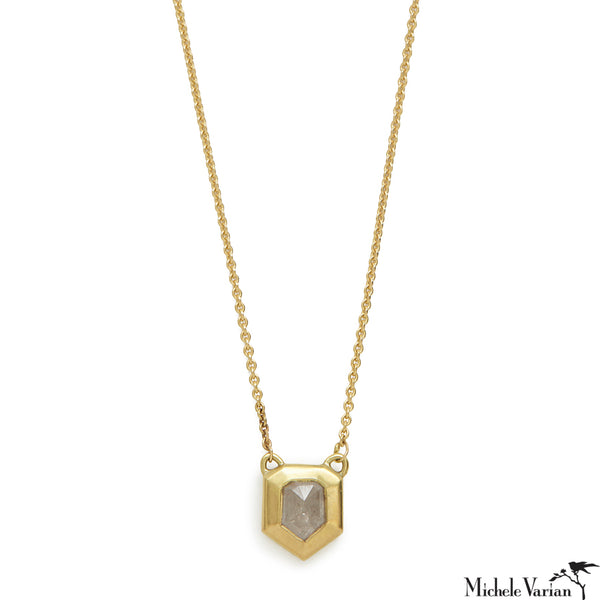 Stormy Diamond Shape Gold Necklace