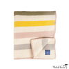 Woven Striped Wool & Cotton Throw Blanket