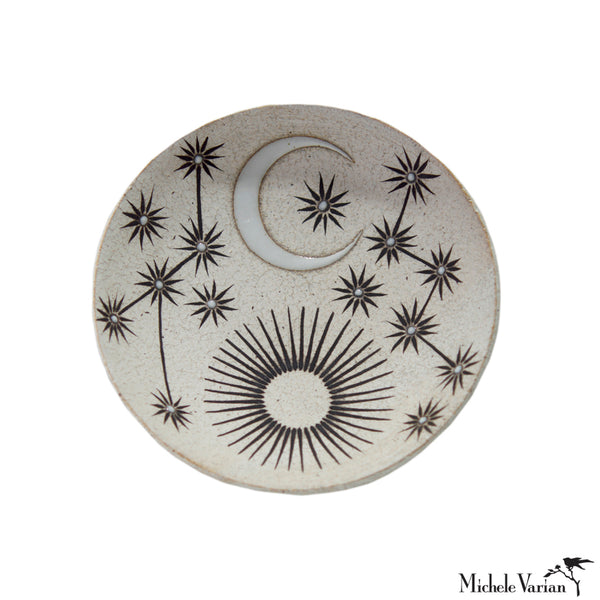 Sun Moon and Stars Constellation Stoneware Dish