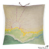 Printed Linen Pillow Sunscape 18x18