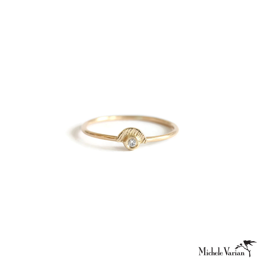 Tiny Sunshine Diamond Gold Ring