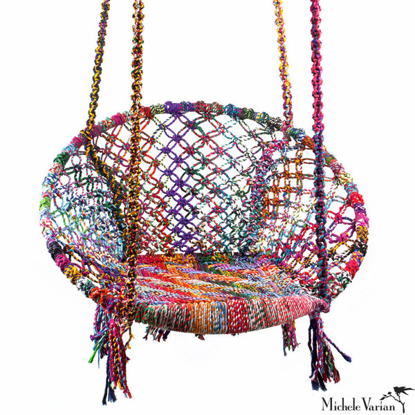 Recycled Fiber Swing Chair Colorful
