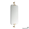 Floating Brass Mirror