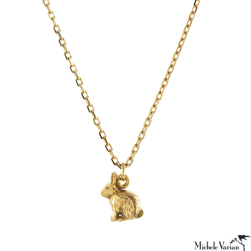 Teeny Tiny Rabbit Gold Necklace
