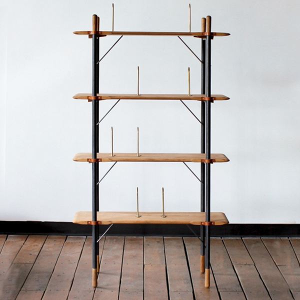 Tall Oak Shelves