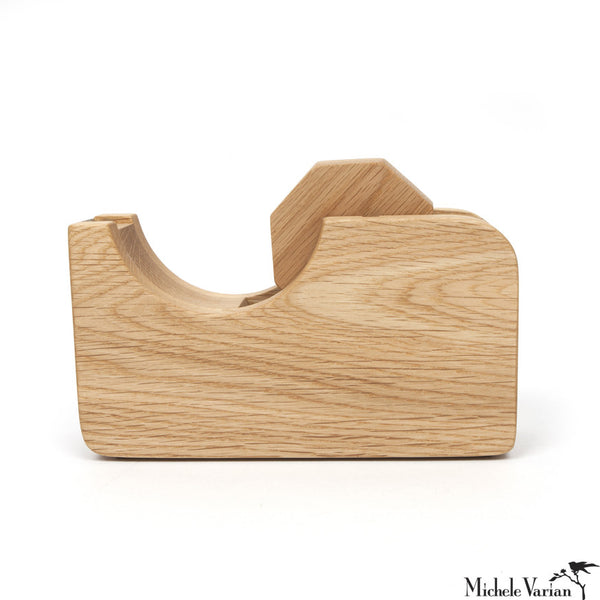 Wood Tape Dispenser Large