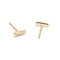 Tapered Baguette Gold Stud Earrings