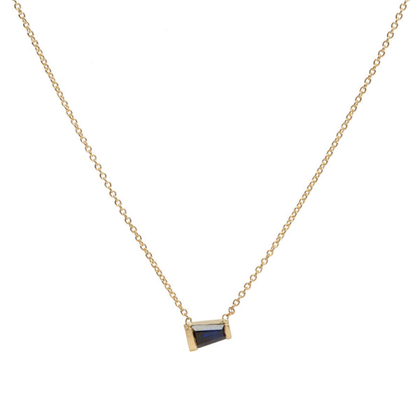 Tapered Baguette Sapphire Necklace