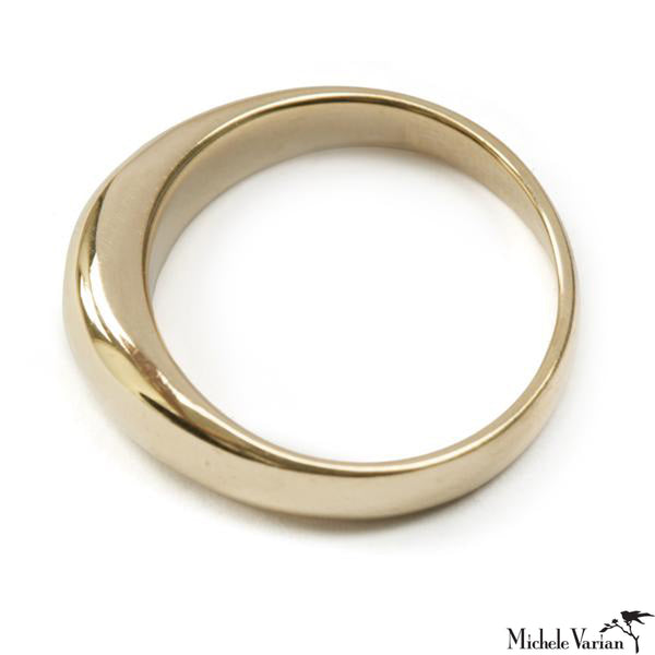 Solid Gold Tapered Ring
