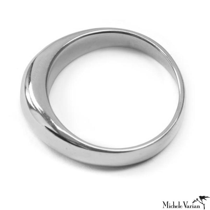 Solid Silver Tapered Ring
