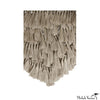 Giant Macrame Jute Wall Hanging in Natural with Tassels Fringe