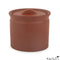 Matte Terracotta-Color Lidded Stoneware Jar X-small