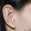 Master Gold Single Needle Earring