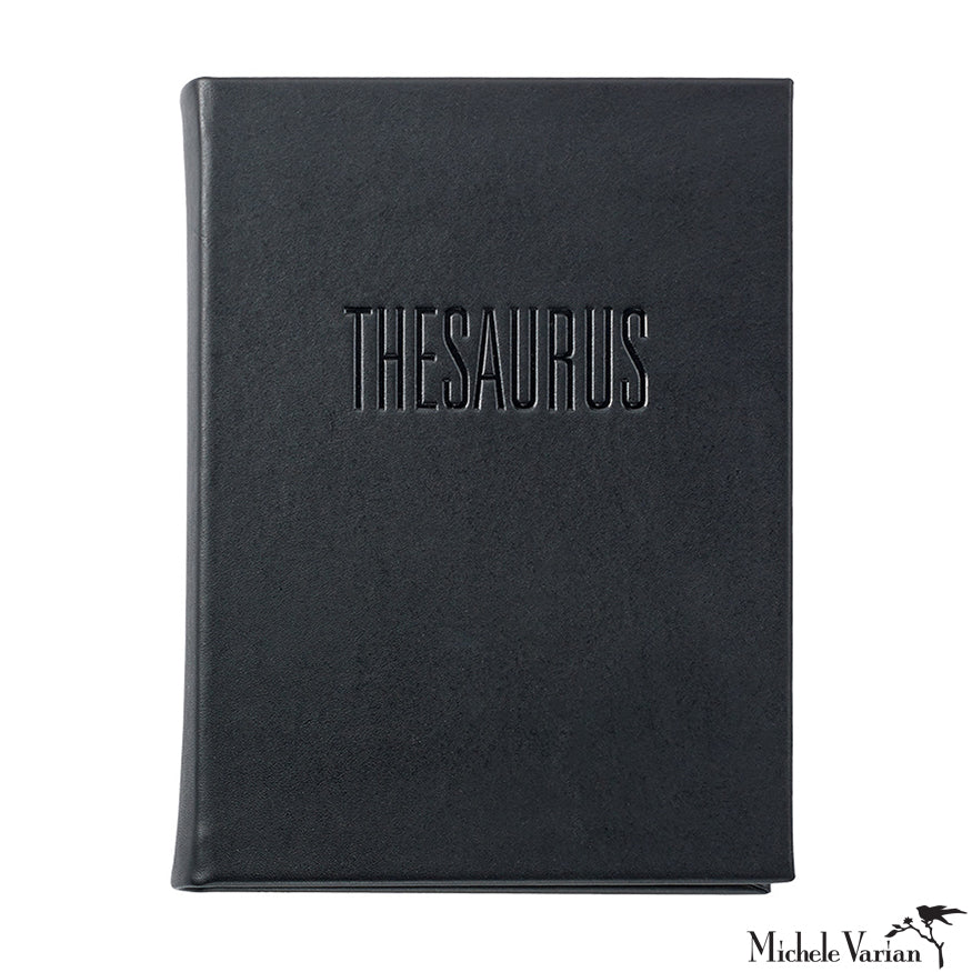 Black Leather Bound Thesaurus