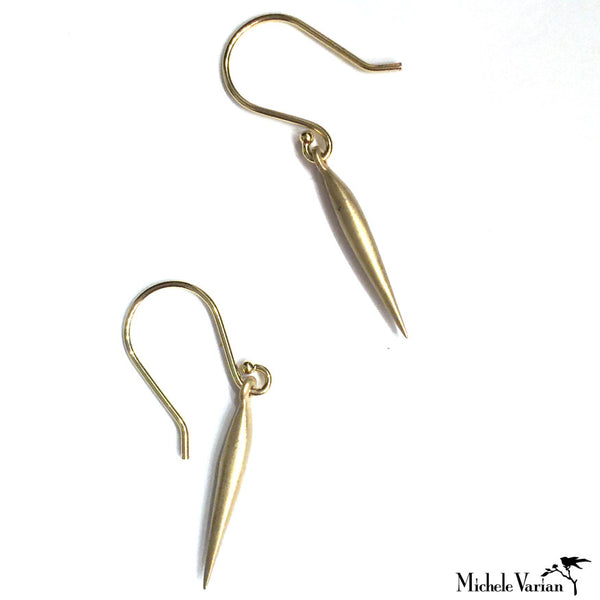 Tiny Slice Earring 14k Gold