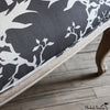 Thornbird Printed Linen in Almost Black Flax