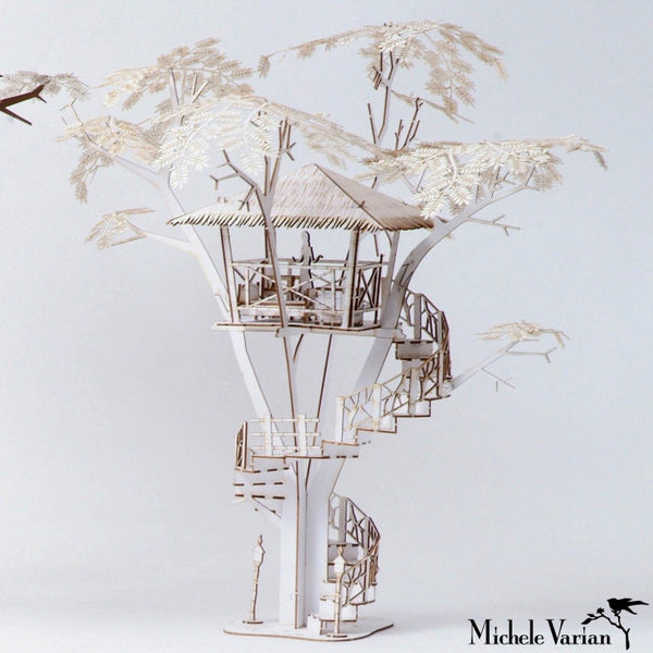Tiki Tree House 3D Model Kit - Medium