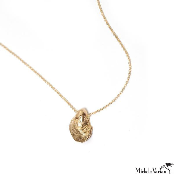 Tiny Oyster Gold Necklace