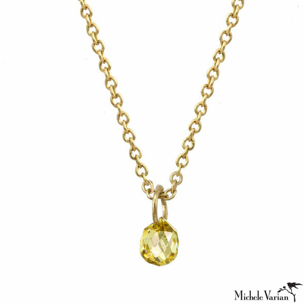 Gold Yellow Sapphire Constellation Necklace