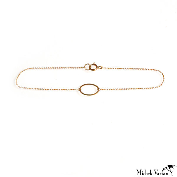 Tiny Oval Gold Bracelet