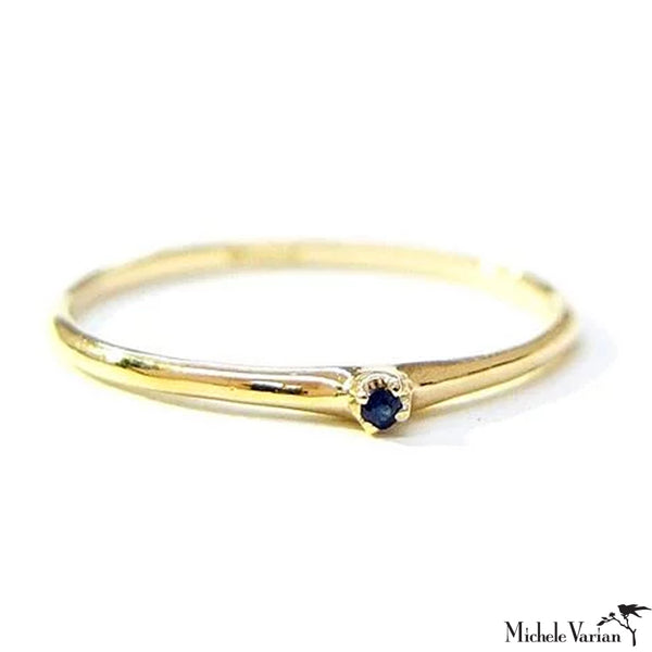 Tiny Sapphire Gold Ring