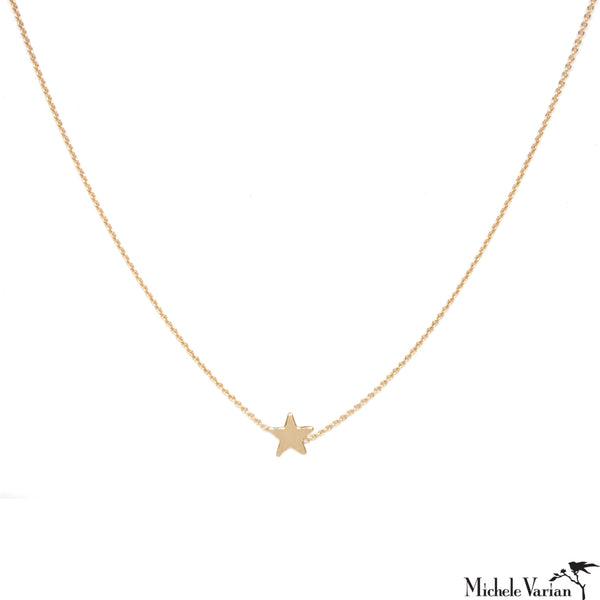 Tiny Gold Star Necklace
