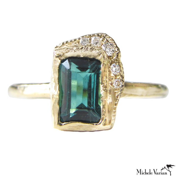 Reflection Green Tourmaline Ring