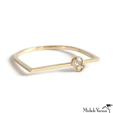 Gold Twin Rosecut Diamond Ring