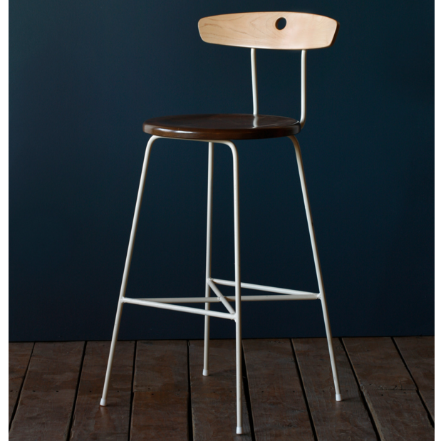 Two Tone Wood Counter Stool