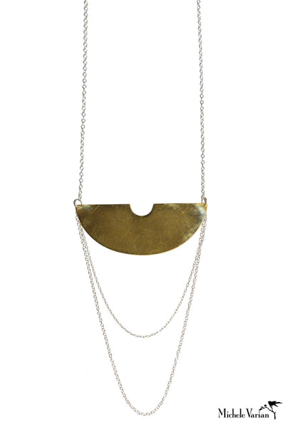 Brass and Silver Tycho Necklace