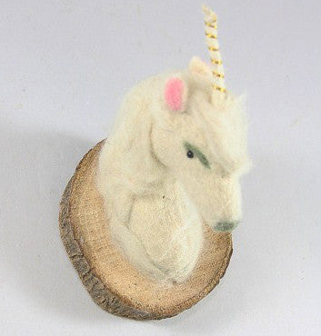 Felt Animal Wall Mount Unicorn