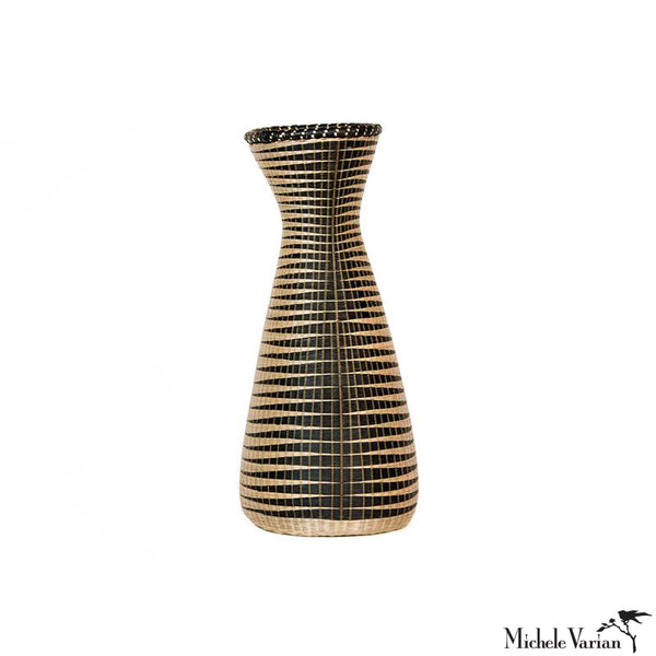 Huye Woven Bamboo and Papyrus Small Vessel