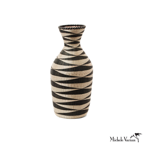 Huye Woven Bamboo and Papyrus Large Vessel