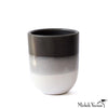 Greyscale Striped Porcelain Tumblers
