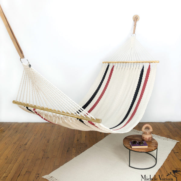 Striped Vero Hammock Dark Wood