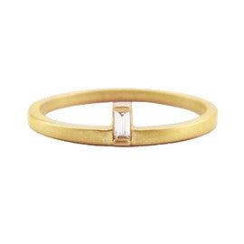 Vertical Baguette Stacking Ring