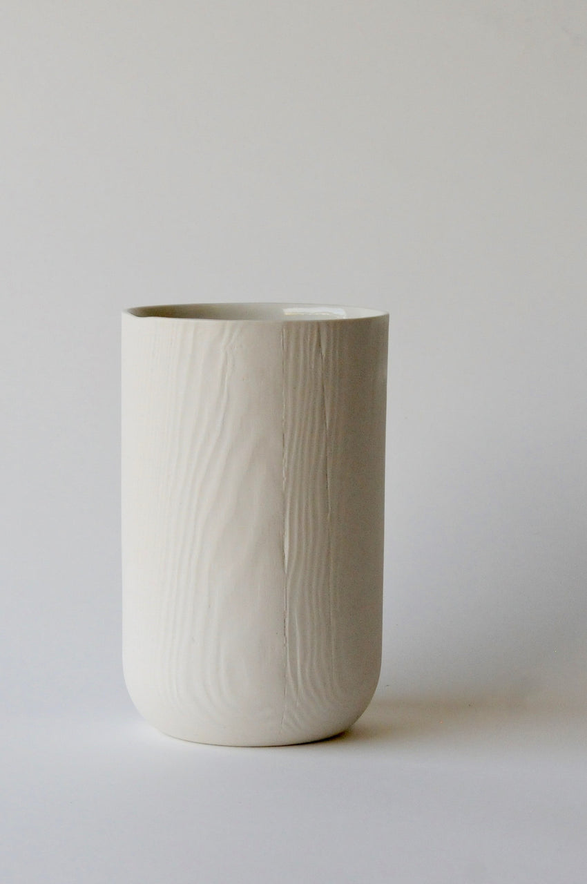 Woodgrain Porcelain Small Vase