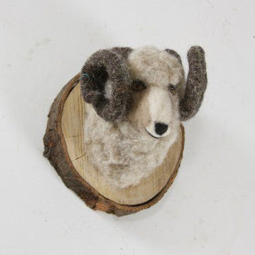 Felt Animal Wall Mount Winter Sheep