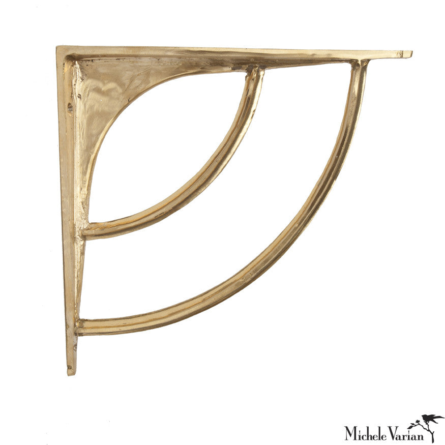 Charmant Brass Wall Shelf Bracket