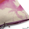 Printed Linen Pillow Wash Pink 22x22