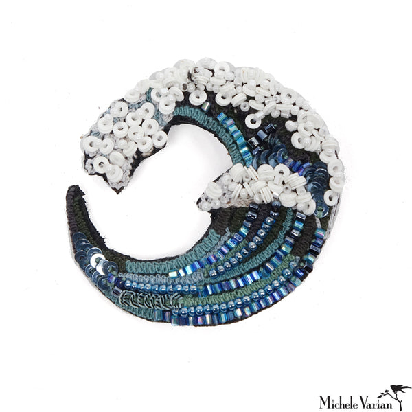 Great Wave Brooch Pin