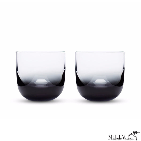 Black Ombre Whiskey Glasses Set of 2