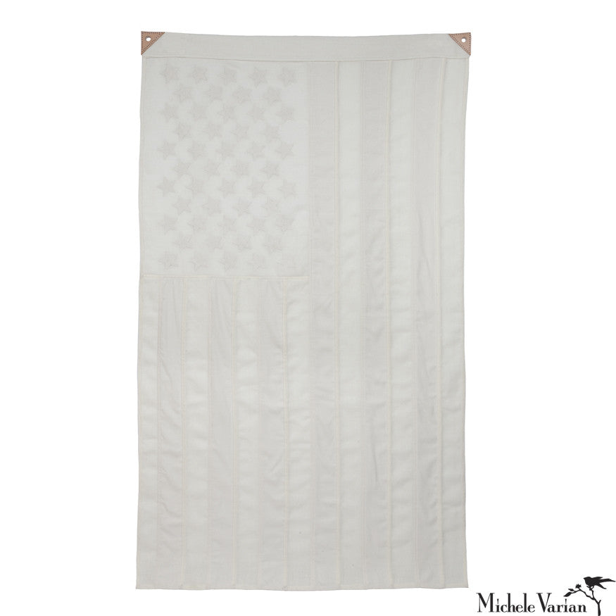 White Wool American Flag