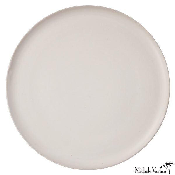 Wheel Thrown Dinner Plate Silky White