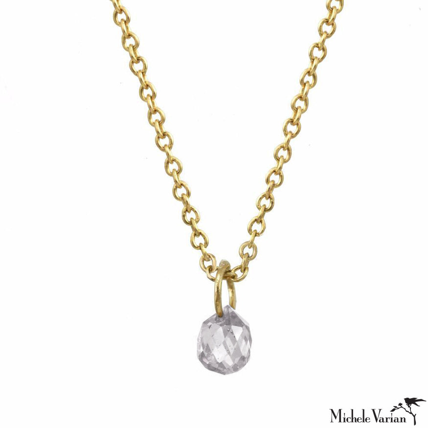 Gold White Sapphire Constellation Necklace