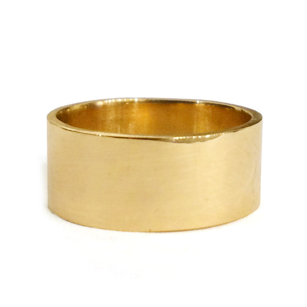 Solid Gold Wide Band