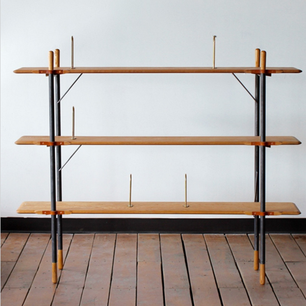 Wide Oak Shelves