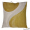 Printed Linen Pillow Winding Ochre 20x20