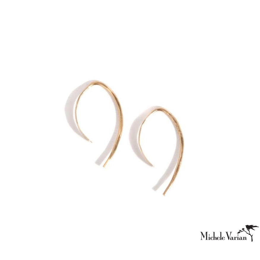 Extra Small Gold Wishbone Hoops